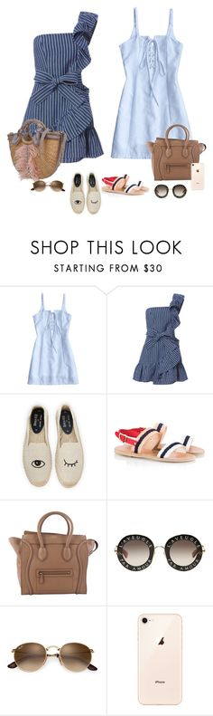 """""""Sunny funny fashion day"""" by audrey-balt ❤ liked on Polyvore featuring Alexis, Soludos, Ancient Greek Sandals, CÉLINE and Gucci"""