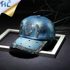 2016 Autumn New Diamond Bling Denim Baseball Cap Rhinestone Snapback Cap  Hats Women Casual Gorras Casquette 1698cc3cfba