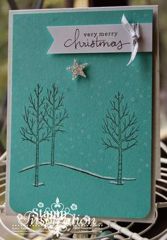 White Christmas and Endless Wishes stamps from Stampin' Up! Demonstrator Kerry Timms. Hop over to my blog for more inspiration or to place an order.