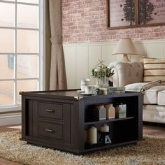Shop for Furniture of America Edith Traditional Square Espresso Storage Coffee Table. Get free shipping at Overstock.com - Your Online Furniture Outlet Store! Get 5% in rewards with Club O!