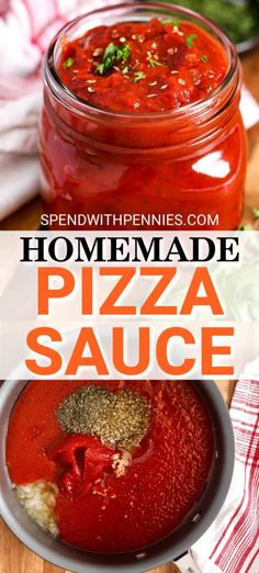 This Pizza Sauce is an easy recipe made from scratch! Perfect to keep on hand for pizza or pasta! - This homemade pizza sauce is quick and easy to prepare and is perfect for freezing. Not just for pi - Marinara Sauce For Pizza, Pasta Sauce To Freeze, Pizza Sauce Recipe Easy, Canning Pizza Sauce, Tomato Pizza Sauce, Best Pizza Dough Recipe, How To Make Pizza, Food To Make, Homemade Sauce