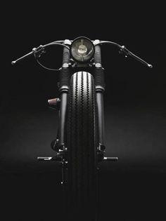 Bobber bike front view