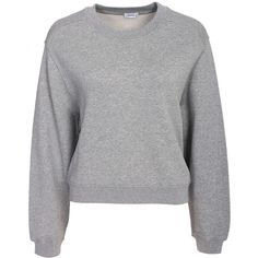 Filippa K Cropped Sweat Top ($185) ❤ liked on Polyvore featuring tops, hoodies, sweatshirts, crew-neck sweatshirts, tall tops, crew neck crop top, crew neck sweatshirts and crew neck top