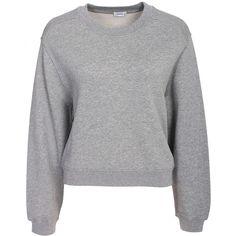 Filippa K Cropped Sweat Top ($185) ❤ liked on Polyvore featuring tops, hoodies, sweatshirts, filippa k, crop top, tall sweatshirts, crew neck crop top and crew-neck sweatshirts
