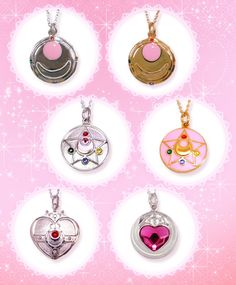 New official Japanese Premium Bandai Sailor Moon Brooch pendants!!! Sailor Moon's Henshin Brooch, Crystal Star and Cosmic Heart Compact and Sailor Mini Moon's (Sailor Chibi Moon's) Prism Heart Compact! More info, images and shopping links here! http://www.moonkitty.net/reviews-buy-sailor-moon-jewelry.php #SailorMoon