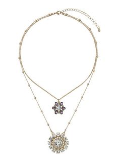 Sparkle Stone Two Row Necklace
