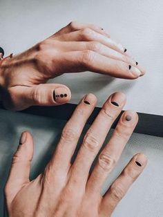 Nail Swag, Nail Manicure, Diy Nails, Men Nail Polish, Mens Nails, Line Nail Art, Subtle Nails, Valentine Nail Art, Lines On Nails