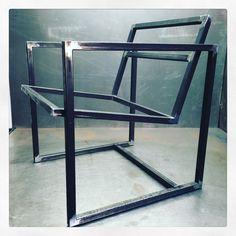 Finally doing a set of this #Chair #Design properly… Cause you can't stand up all the time… May as well sit in #Style … #progress #steel #framing #welding #fabrication #designer #furniture #maker #cauvdesign #madeinbrooklyn #madeinnyc...