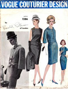 60s Vogue Couturier Design Sewing Pattern by allthepreciousthings,
