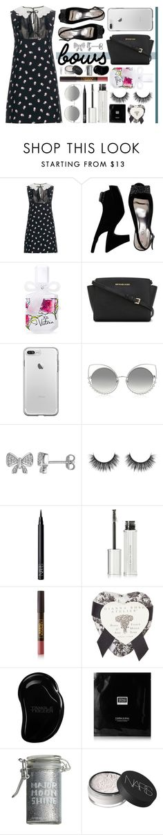 """""""Bows - Contest Entry"""" by anushajean13 ❤ liked on Polyvore featuring Miu Miu, Victoria's Secret, MICHAEL Michael Kors, Marc Jacobs, Laura Ashley, NARS Cosmetics, Givenchy, Lipstick Queen, Gianna Rose Atelier and Tangle Teezer"""