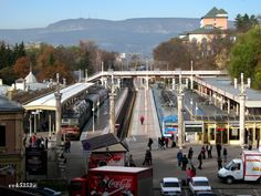 Caucasus Mineralnye Vody region. Railway station of the resort town of Kislovodsk.