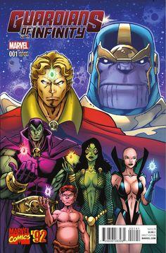 Guardians of Infinity Marvel Variant Cover by Ron Lim Adam Warlock, Warlock Marvel, Marvel Comic Universe, Comics Universe, Marvel Art, Comic Book Covers, Comic Books, Comic Art, Panini Comics