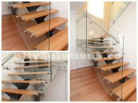 Metal single stringer stair with wooden steps. Metallic structure of electrostatic painted steel. Wooden Steps, Exterior Stairs, Floating Stairs, Interior Decorating, Interior Design, Wood Interiors, Spiral Staircase, Solid Oak, Building