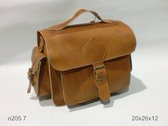 Leather messenger bag -  genuine leather handmade in brown