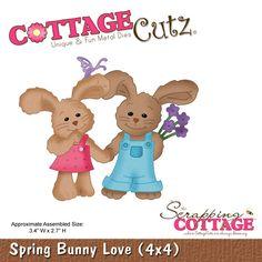 CottageCutz Spring Bunny Love (4x4)