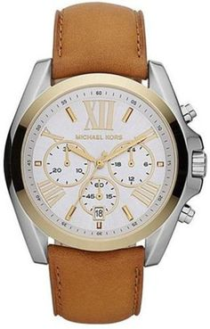 Michael Kors Women's MK5629 Bradshaw Brown Watch Michael Kors. $164.96. Water resistance: 10 atm. Durable mineral crystal protects watch from scratches,. Chronograph movement. Leather & stainless steel watch. Band circumference: 190mm