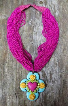 Sookie Sookie Fiesta Pink Beaded Necklace  #QueenBling