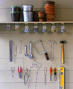 Tool Outlines  Everyone will know where the tools should go; just hang them up and outline them with a paint pen.