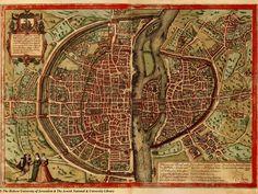 Amazing Maps of Medieval Cities – Earthly Mission: Paris Vintage Maps, Antique Maps, Medieval, Ancient Maps, Philippe Auguste, Planning Maps, Plan Paris, Rpg Map, Art Carte
