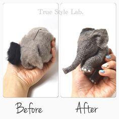 This is what needle felt is. Q, 羊毛フェルトとは? A, これがこうなること。 #truestylelab…