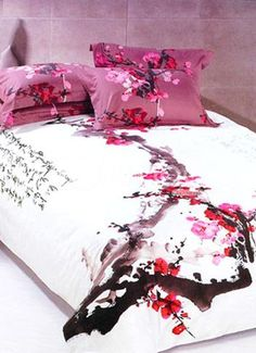 Japanese Bedding Cherry Blossoms Asian Inspired Bedding