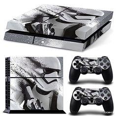 Star Wars Battlefront StormTrooper Skin Sticker Aufkleber Decal for Playstation 4 PS4 Console+ 2 Controller Aufkleber set