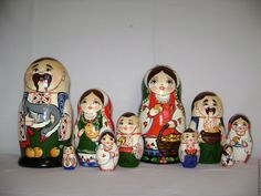 Buy Matryoshka of Ukrainian family - matryoshka, materials for creative work, wood, varnish
