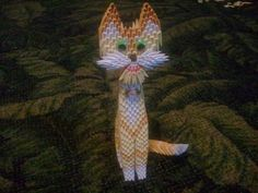 3d origami Yellow Cat  KIT by akvees on Etsy, $25.00