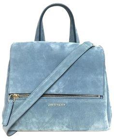 Givenchy Pandora Suede Handbag Blue Cross Body Bag. Get the trendiest Cross Body…