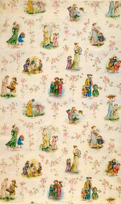 Vintage inspired nursery wallpaper,