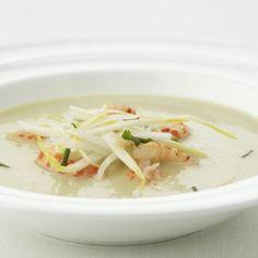 Recepten - Witloofsoep met rivierkreeftjes
