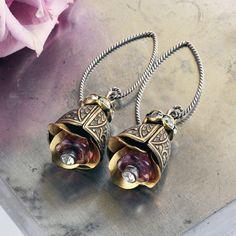 Purple Bells  February Amethyst Glass Victorian Inspired