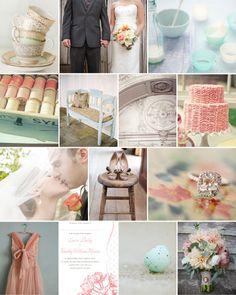 Dear Evie inspiration board 26 #wedding #inspiration #floral #antique #aqua #peach