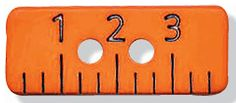 Fancy and Decorative {19mm w/ 2 Holes} 3 Pack of Medium Size Rectangle 'Flat' Sewing and Craft Buttons Made of Polyester w/ Simple Numbered Back To School Bright Ruler Design {Orange and Black} ** Read more  at the image link.