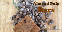 You just finished making almond milk, and are left with the pulp. Whatever you do, do not throw it out. Make these delicious almond pulp bars.