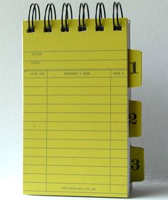Library Card Note Book Notepad with Ledger card by CampfireDesigns, $ 6.00
