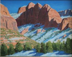 """Kolob Canyon,"" Frank Ray Huff, Jr.,16x20, oil on canvas"