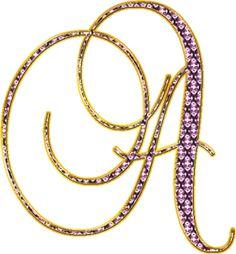 Alfabeto Decorativo: Alfabeto - Ouro e Diamante 5 - PNG - Maiúsculas e ...