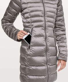 a77fa3cb820cb Lululemon Brave The Cold Jacket - Dark Chrome - lulu fanatics Зимние Куртки