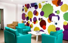The bright and colorful new Ronald McDonald Family Room in Alessandria, Italy.