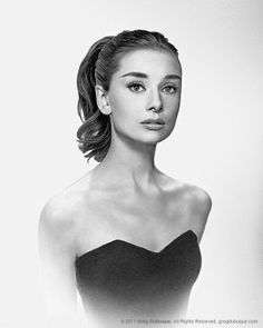 Audrey Hepburn Graphite drawing by Greg Dubuque