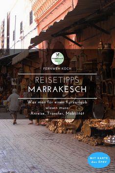 Marrakesch eignet sich hervorragend für einen Kurztrip in den Orient. Hier erwarten euch neue Kulturen, Eindrücke und Gerüche. Damit ihr unkompliziert nach Marrakesch reisen könnt und euch auch unterwegs zurecht findet, habe ich für euch einige Reisetipps aus eigener Erfahrung zusammengestellt. #Marrakesch #Reisetipps #Orient #Anreise #Marokko #Medina #Souks #Riad #Djemnaelfna