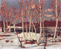 Tom Thomson,1917, April in Algonquin Park,21 x 26,5 cm, Tom Thomson Memorial Art Gallery - Tom Thomson - Wikipedia, the free encyclopedia