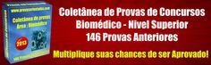 provas biomedico