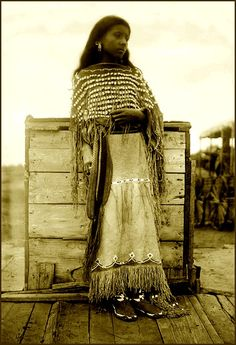 Kiowa girl. Photographed 1890.