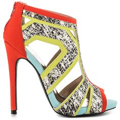 Qupid Rachel - Tangerine Nu PU can be shopped from #Heelscom Online Store with Discount Vouchers and Coupon Codes.