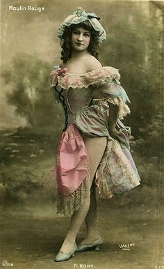 Postcard of an unknown Moulin Rouge Dancer In Paris, France, Circa Moulin Rouge Dancers, Moulin Rouge Paris, Le Moulin, Look Vintage, Vintage Girls, Vintage Beauty, Belle Epoque, Vintage Pictures, Vintage Images