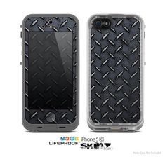 The Dark Diamond Plate Skin for the Apple iPhone by TheSkinDudes, $9.99