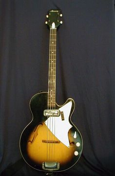 60's Harmony H22 Hollow body Bass Guitar.