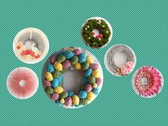 Looking for something to keep your loved one busy? We have a fun and festive idea: have them make a spring wreath. You can find cheap materials at any discount store.